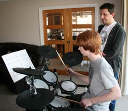 Danny teaching Nathan Wallington